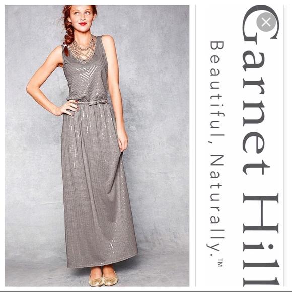 d8bf301f88 Garnet Hill Dresses & Skirts - Garnet Hill sequin festive maxi tank dress